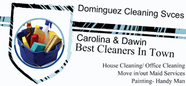 Dominguez Cleaning Services business card