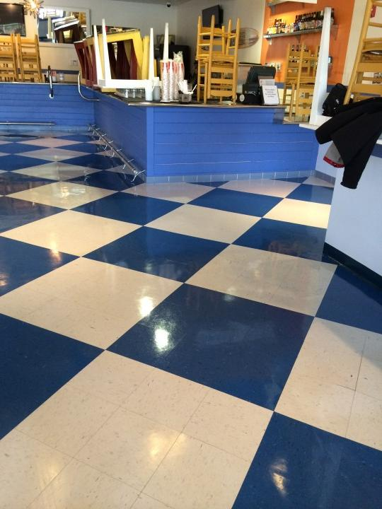Floor cleaning by Dominguez Cleaning Services, Inc